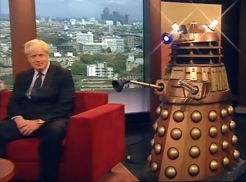 Boris meets a Dalek on the Andrew Marr Show